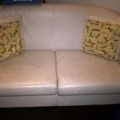 Free Sofa Uplift Glasgow Eli Reclining With Drop Down Table Small Cream Leather 2 Seater Sofa, Couch | In Finnieston ...
