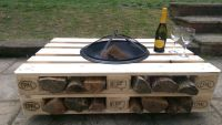 Garden Fire Pit Table made from heat treated EPAL pallets ...