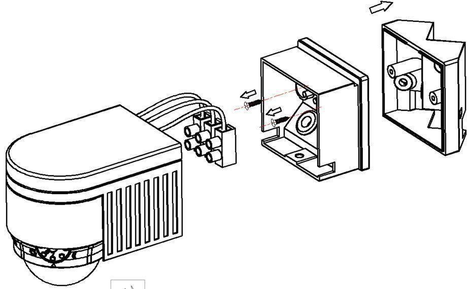 Black PIR 360° Motion Sensor Detector Outdoor NEW IP44