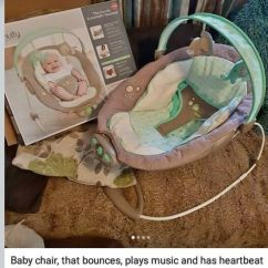 Baby Chair That Vibrates French Cross Back Dining Bouncer Plays Music And Has Heart Beat Vibrations 35 Onos