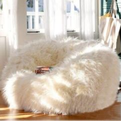 Chair Covers Giant Tiger Swivel Clearance Fur Bean Bag Ebay Xtra Large Luxury 400l Sheepskin Cover Only Faux Shaggy White Soft