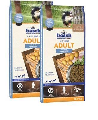 2x15kg Bosch Adult Fisch & Kartoffel Hundefutter *** TOP PREIS ***