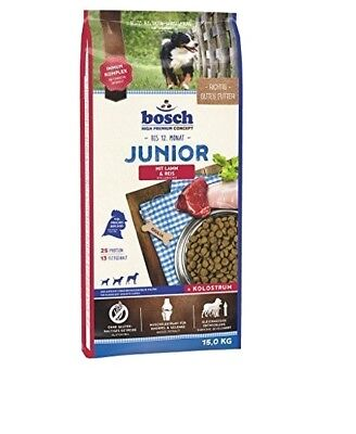 15kg Bosch Junior Lamm & Reis Hundefutter für Welpen