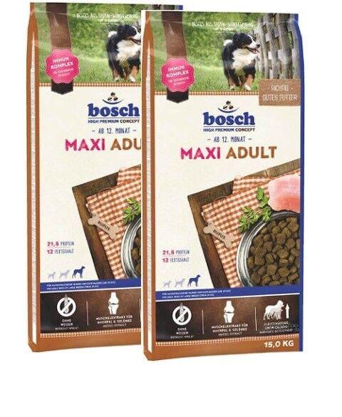 2x15kg Bosch Adult Maxi *** TOP PREIS *** Hundefutter
