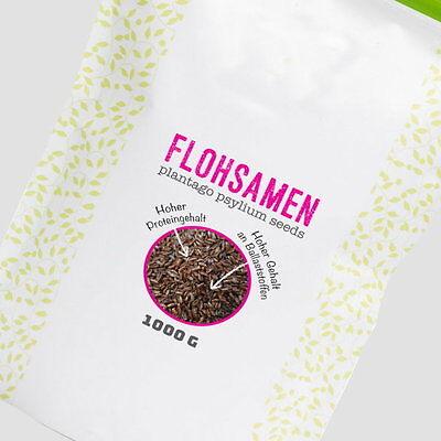 1kg / 1000g 100% indische Flohsamen in Premium Qualität - Verdauung + Sättigung