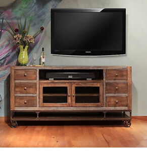 Reclaimed Wood Tv Stand Ebay