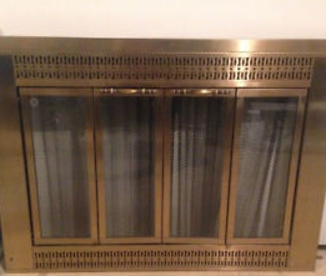 Brass Fireplace Doors   Inches X  Inches