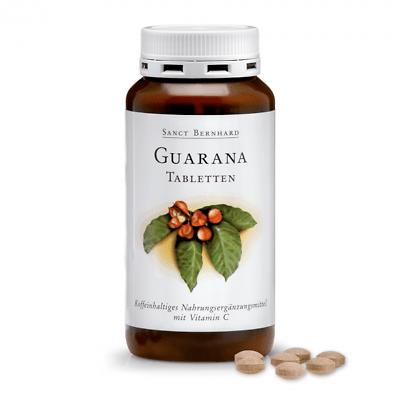 250 Guarana Tabletten (1 Dose) Sanct Bernhard, Vitamin C, Magnesium, Koffein