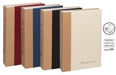 Memory Fotoalbum für 300 Fotos in 10x15 cm Einsteckalbum Fotobuch Memories
