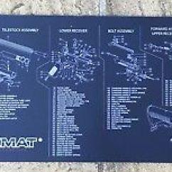 M16 Exploded Diagram Club Car Golf Cart Wiring 36 Volt Ar15 M4 Battle Rifle Gun Cleaning Bench Tekmat Mouse Mat