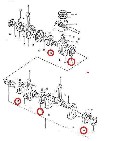OEM Suzuki GS GSX 400 425 550 650 850******1100 Bearing