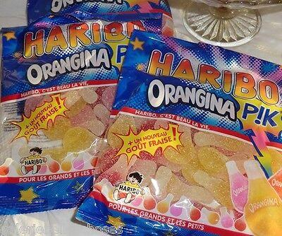 2 x 250 g Haribo Orangina PIK leicht sauer prickelnd Kaubonbon Bonbon Frankreich