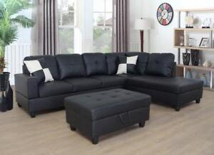 all leather sofa bed transitional velvet kijiji in ontario buy sell save with huge warehouse sale town bonded sectional toss pillows for 799