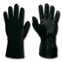 Black Nomex Flight Fire Resistant Pilot Fireproof Gloves ...