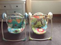 2 baby swing seats for sale rocker bouncer twins