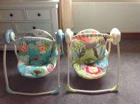 2 baby swing seats for sale rocker bouncer twins | in ...