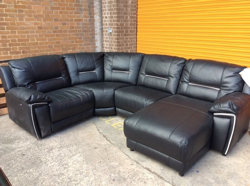 harveys 3 seater recliner sofa how to make a chair cover harvey's hedge more reclining corner leather ex ...