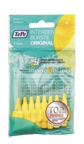 TePe Interdentalbürsten gelb Orginal - 8 Stück Zahnzwischenraumpflege