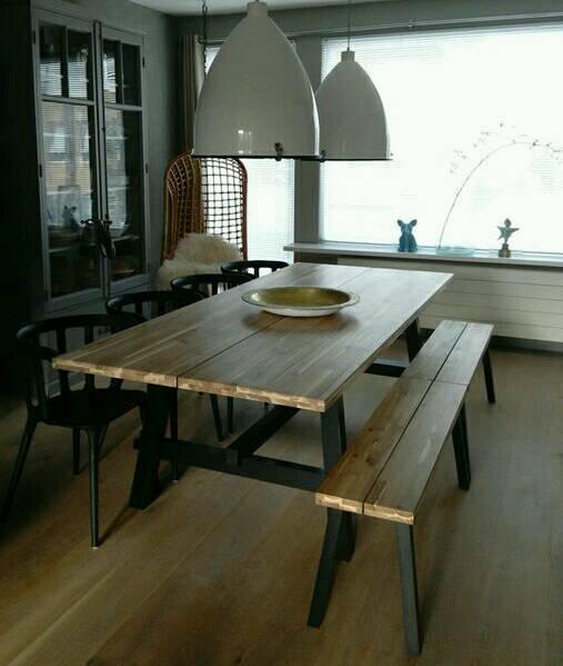IKEA Skogsta Solid Wood Dining Table  4 Ingolf Dining