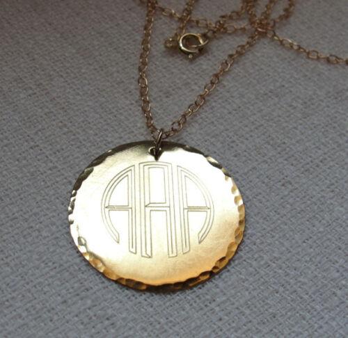 14k monogram necklace