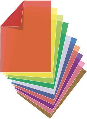 40 (4x 10) Blatt Transparentpapier DIN A4 / 10 verschiedene Farben