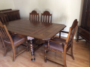 antique kitchen table curio cabinet buy or sell dining sets in toronto gta kijiji 1930 s original set