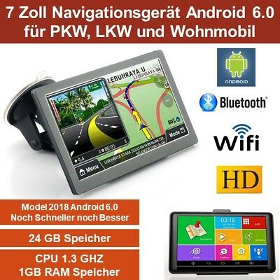 Elebest 17,8cm 7 Zoll Navigationsgerät,LKW,Wohnmobil,TMC,Android 6.0,Radarwarner