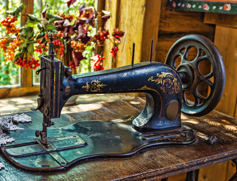 Image result for old sewing machine