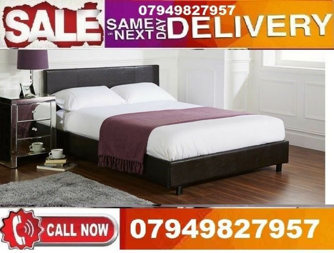 King Size Leather Bed Low Price Best Quality You Can Select Mattress That Suites