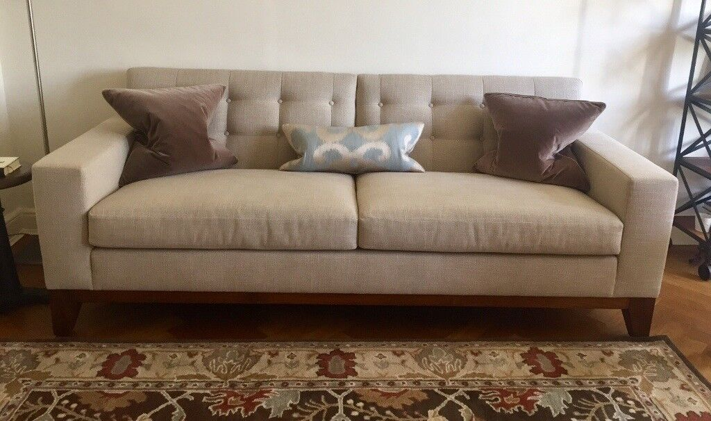 kingcome sofa sale luxury beds bespoke price reduced neutral color hardly used