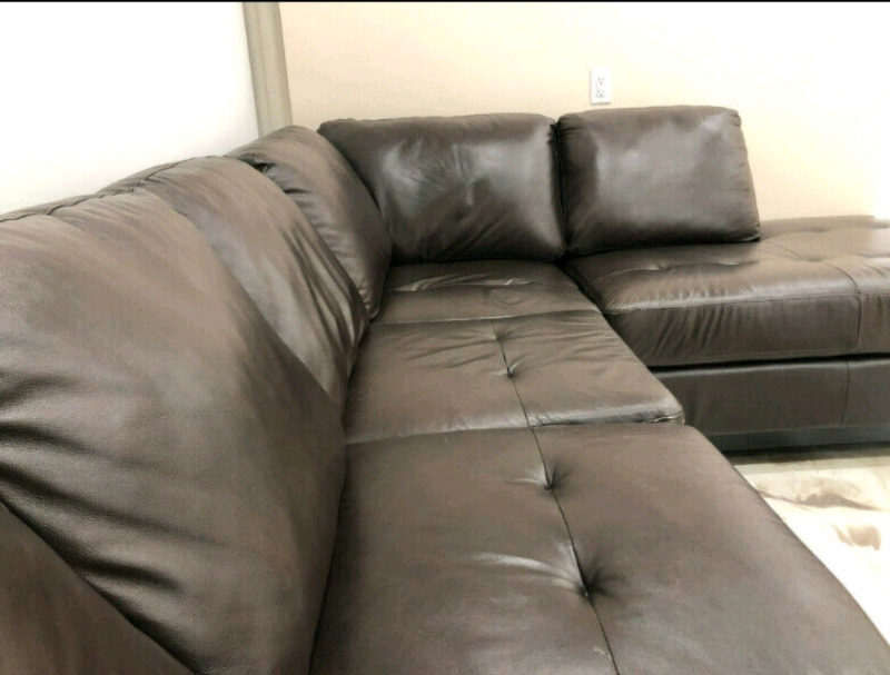 leather sectional sofas rowe nantucket sofa slipcover replacement oakdale the brick couches futons city listing item