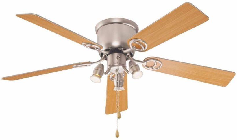B Q Austin Ceiling Fan Light Spotlights Silver Or Oak Change