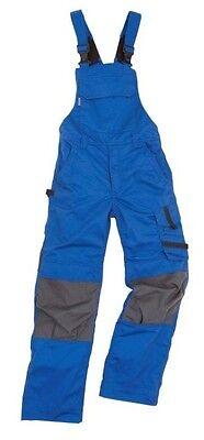 Arbeitslatzhose blau Kniepolstertaschen Arbeitskleidung Latzhose Handwerk Maco