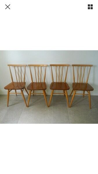 ercol chair design numbers cane seat repair set of 4 windsor chairs model 391 in widnes cheshire