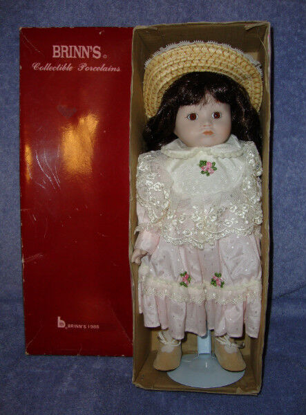 1986 Brinns Collectible Porcelain Doll 14 Penny Arts
