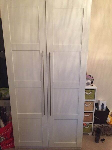 cheap living room ideas for extra seating in small ikea pax wardrobe white/bergsbo | wimbledon, london ...