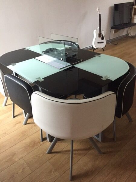 cheap farmhouse table and chairs shell back chair space saver dining room & 6 | in bargoed, caerphilly gumtree
