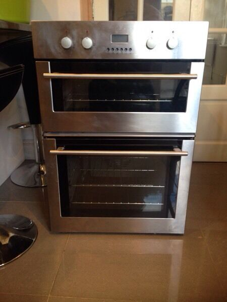 compact kitchen table island with wheels diplomat adp4890 built in oven and grill stainless steel ...
