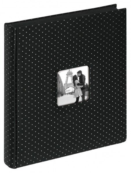 WALTHER Hochzeitsalbum Fotoalbum Hochzeitsfotoalbum Album 50 schwarze Seiten NEU