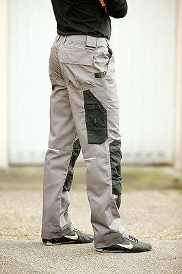Arbeitshose grau Kniepolstertaschen Arbeitskleidung Bundhose Handwerk Maco Tools