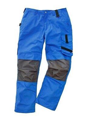 Arbeitshose blau Kniepolstertaschen Arbeitskleidung Bundhose Handwerk Maco Tools