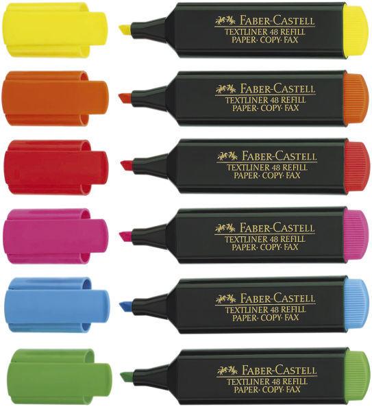 Faber-Castell Textliner 48 Refill Textmarker 1 - 5 mm  Marker, 6 Farben wählbar