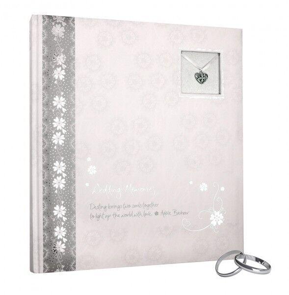 HENZO Hochzeitsalbum SILBER Hochzeitsfotoalbum Fotoalbum Album Hochzeit Geschenk