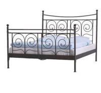 IKEA Noresund black metal bed frame- Queen size   in Hyde ...