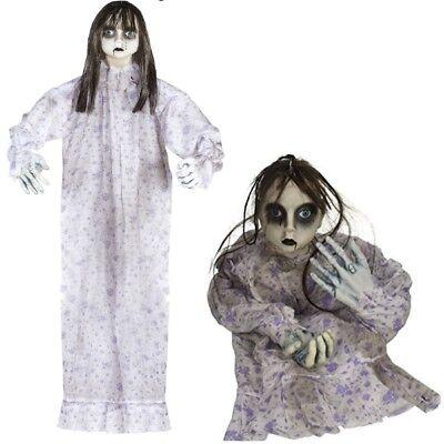 Killer Puppe 90 cm Halloween Deko Dekoration Horror Grusel Figur Schocker 01393