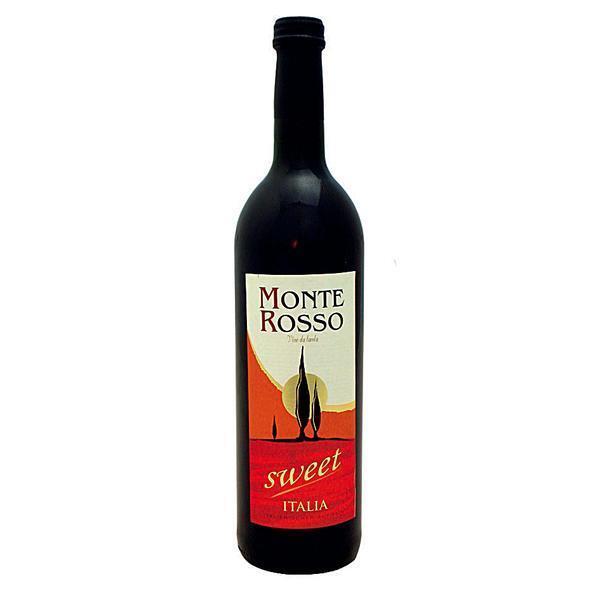 12 Flaschen Italien Wein Monte Rosso sweet 0,75 l rot süß Rotwein