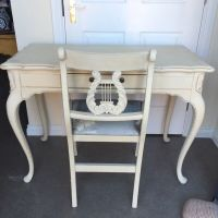 Shabby chic Louis French dressing table & chair / desk ...