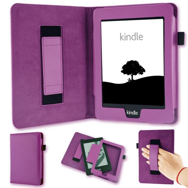 Tasche für Amazon Kindle Paperwhite Hülle Wake Sleep Cover Ebook Schutzcase Lila
