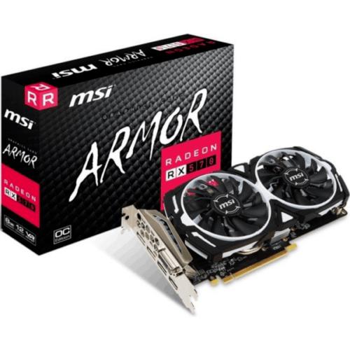 MSI AMD Radeon RX 570 Armor 8G OC 8GB Grafikkarte GDDR5 DVI/HDMI/3x DP