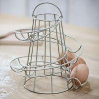 Kitchen Storage Spiral Helter Skelter Egg Holder Stand ...